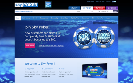 Access skypoker.com using Hola Unblocker web proxy