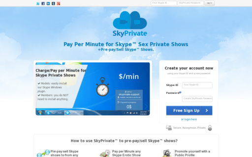 Access skyprivate.com using Hola Unblocker web proxy