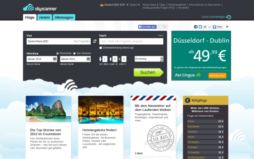 Access skyscanner.de using Hola Unblocker web proxy
