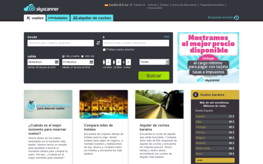 Access skyscanner.es using Hola Unblocker web proxy
