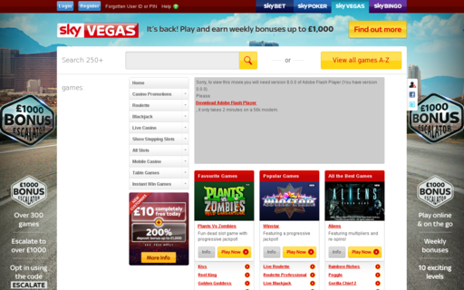 Access skyvegas.com using Hola Unblocker web proxy