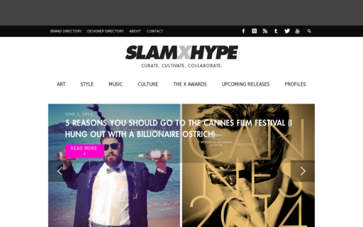 Access slamxhype.com using Hola Unblocker web proxy