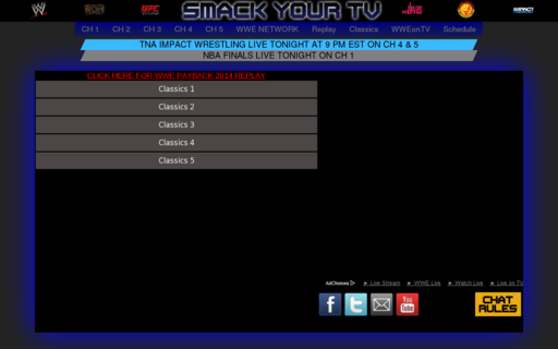 Access smackyourtv.com using Hola Unblocker web proxy