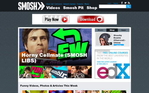 Access smosh.com using Hola Unblocker web proxy