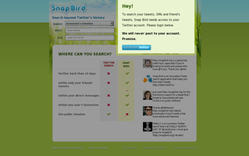 Access snapbird.org using Hola Unblocker web proxy