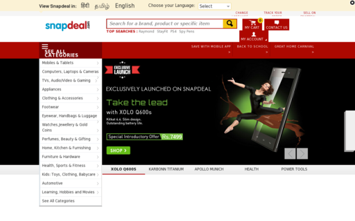 Access snapdeal.com using Hola Unblocker web proxy