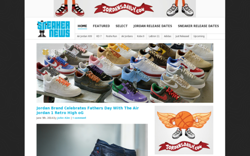 Access sneakernews.com using Hola Unblocker web proxy