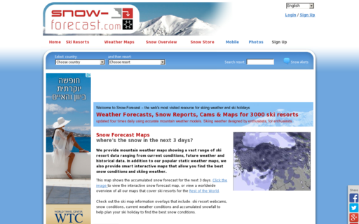 Access snow-forecast.com using Hola Unblocker web proxy