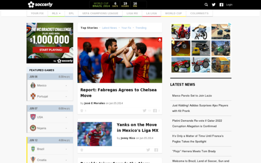 Access soccerly.com using Hola Unblocker web proxy