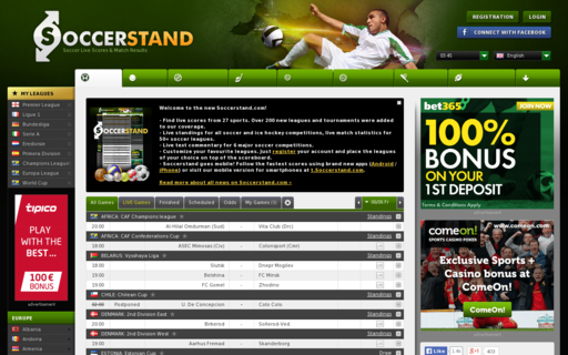 Access soccerstand.com using Hola Unblocker web proxy