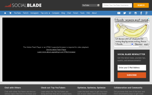 Access socialblade.com using Hola Unblocker web proxy