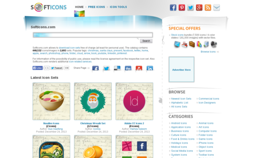 Access softicons.com using Hola Unblocker web proxy