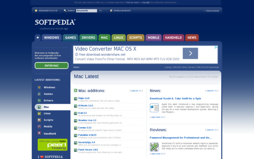Access softpedia.com using Hola Unblocker web proxy