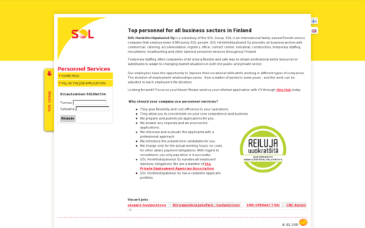 Access solhenkilostopalvelut.fi using Hola Unblocker web proxy