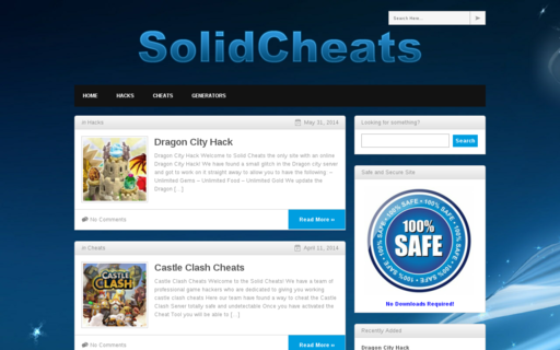 Access solidcheats.com using Hola Unblocker web proxy