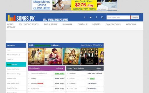 Access songs.pk using Hola Unblocker web proxy
