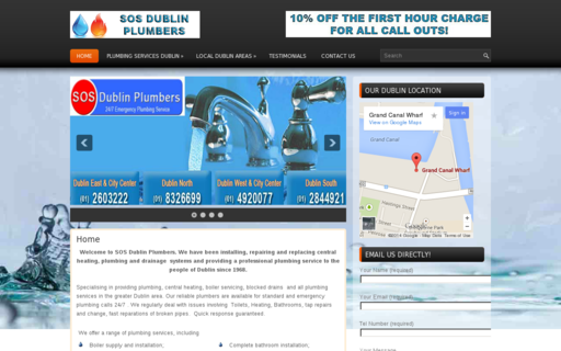 Access sosdublinplumbers.ie using Hola Unblocker web proxy