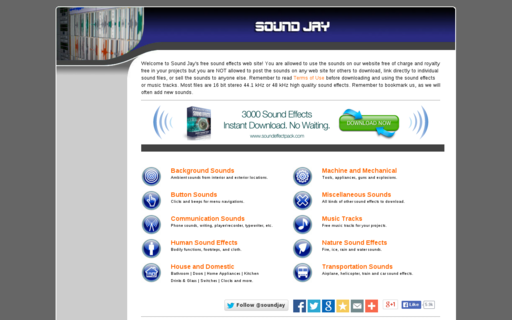 Access soundjay.com using Hola Unblocker web proxy