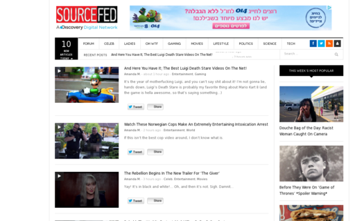 Access sourcefed.com using Hola Unblocker web proxy