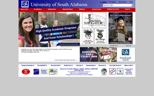Access southalabama.edu using Hola Unblocker web proxy