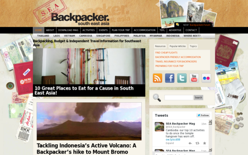 Access southeastasiabackpacker.com using Hola Unblocker web proxy