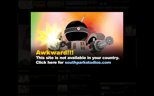 Access southparkstudios.se using Hola Unblocker web proxy