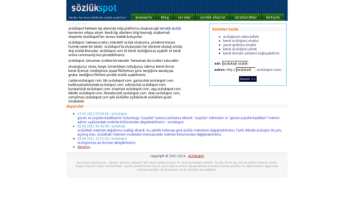 Access sozlukspot.com using Hola Unblocker web proxy