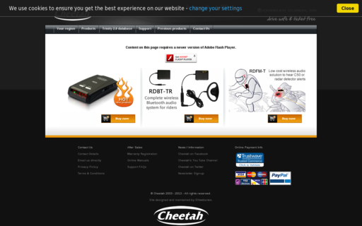 Access speedcheetah.com using Hola Unblocker web proxy