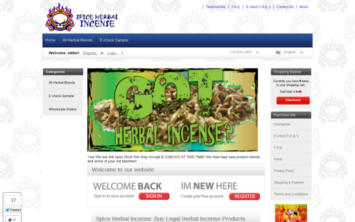 Access spiceherbalincense.com using Hola Unblocker web proxy
