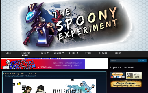 Access spoonyexperiment.com using Hola Unblocker web proxy