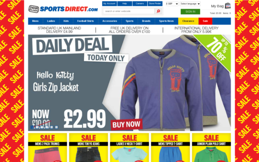 Access sportsdirect.com using Hola Unblocker web proxy