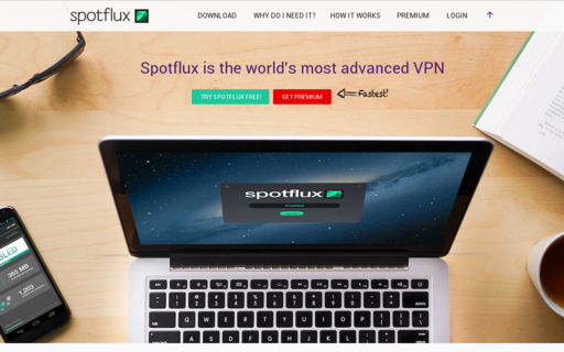 Access spotflux.com using Hola Unblocker web proxy