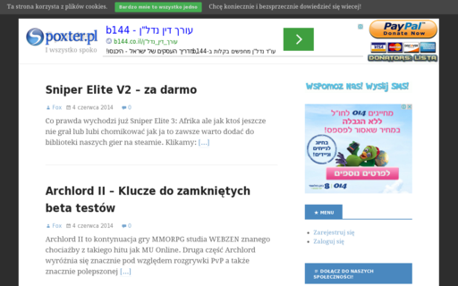 Access spoxter.pl using Hola Unblocker web proxy