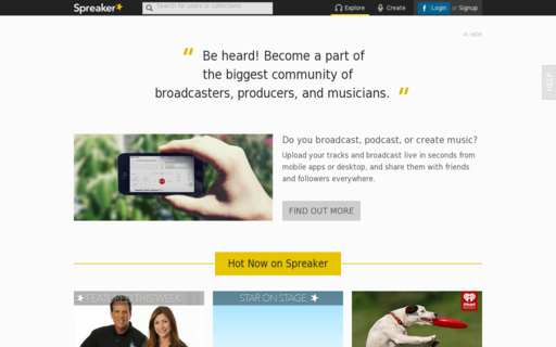 Access spreaker.com using Hola Unblocker web proxy