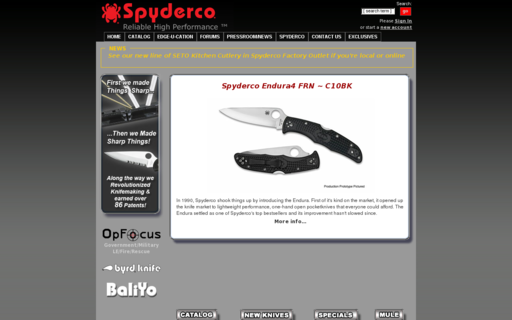 Access spyderco.com using Hola Unblocker web proxy