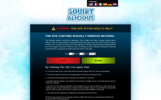 Access squirtalicious.com using Hola Unblocker web proxy