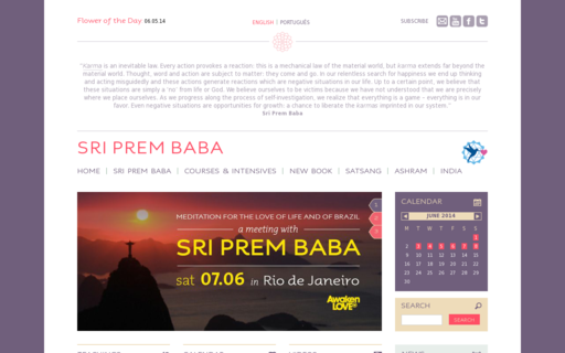 Access sriprembaba.org using Hola Unblocker web proxy