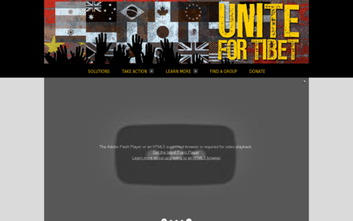 Access standupfortibet.org using Hola Unblocker web proxy