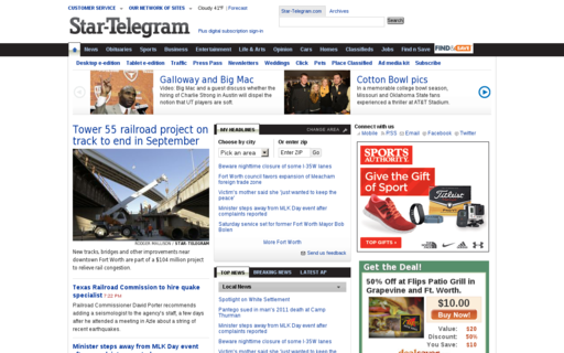 Access star-telegram.com using Hola Unblocker web proxy