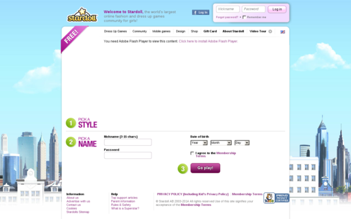 Access stardoll.com using Hola Unblocker web proxy
