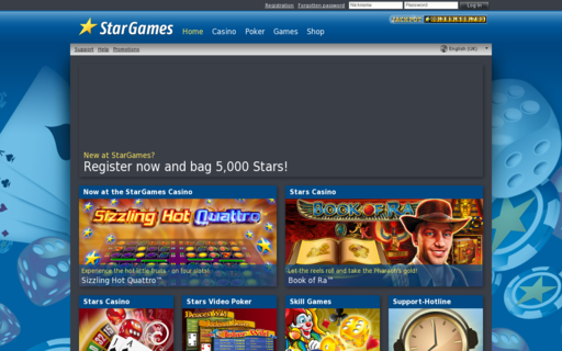 Access stargames.net using Hola Unblocker web proxy