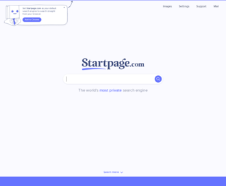 Access startpage.com using Hola Unblocker web proxy