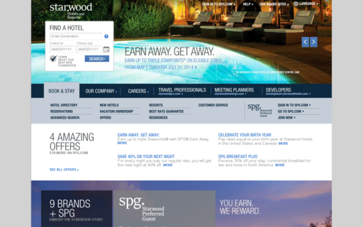 Access starwoodhotels.com using Hola Unblocker web proxy