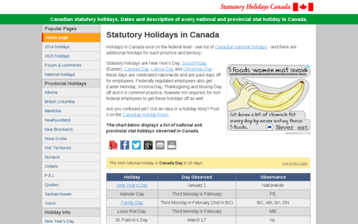 Access statutoryholidays.com using Hola Unblocker web proxy