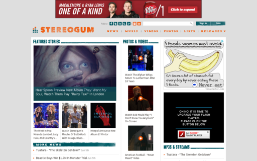 Access stereogum.com using Hola Unblocker web proxy