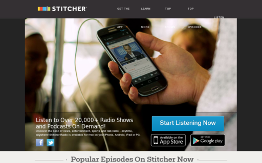 Access stitcher.com using Hola Unblocker web proxy