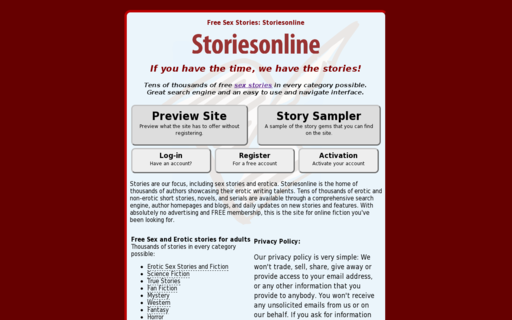 Access storiesonline.net using Hola Unblocker web proxy