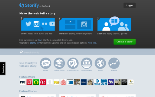 Access storify.com using Hola Unblocker web proxy