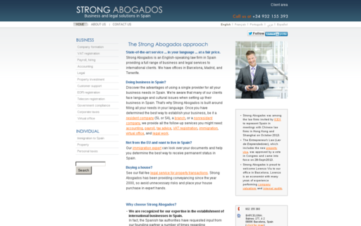 Access strongabogados.com using Hola Unblocker web proxy