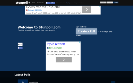 Access stunpoll.com using Hola Unblocker web proxy